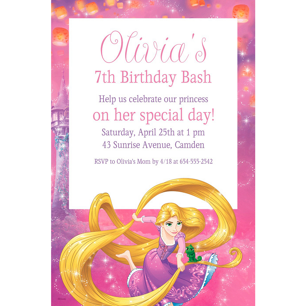 Custom Rapunzel Invitation | Party Supplies | Party City