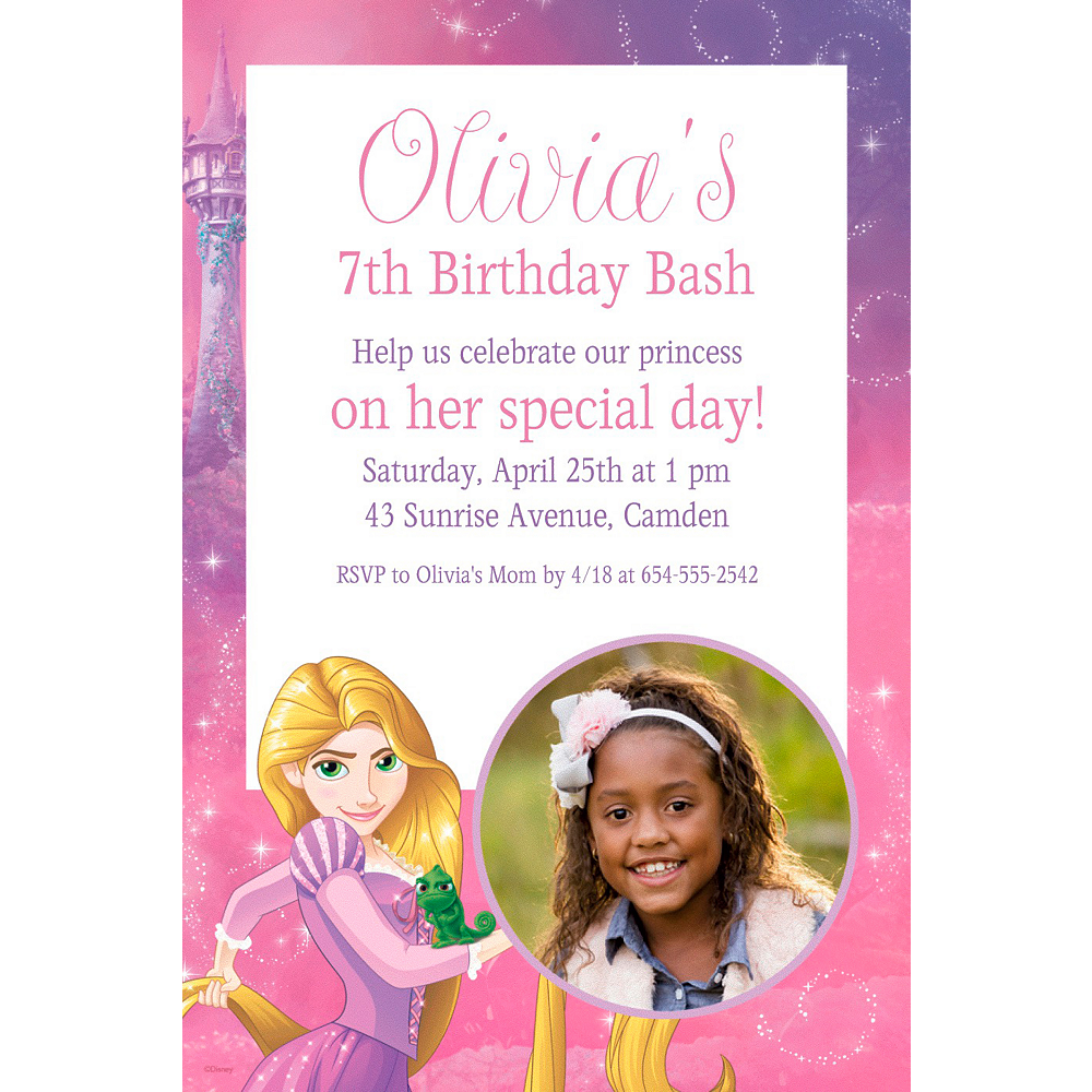 Custom Rapunzel Photo Invitation | Party Supplies | Party City