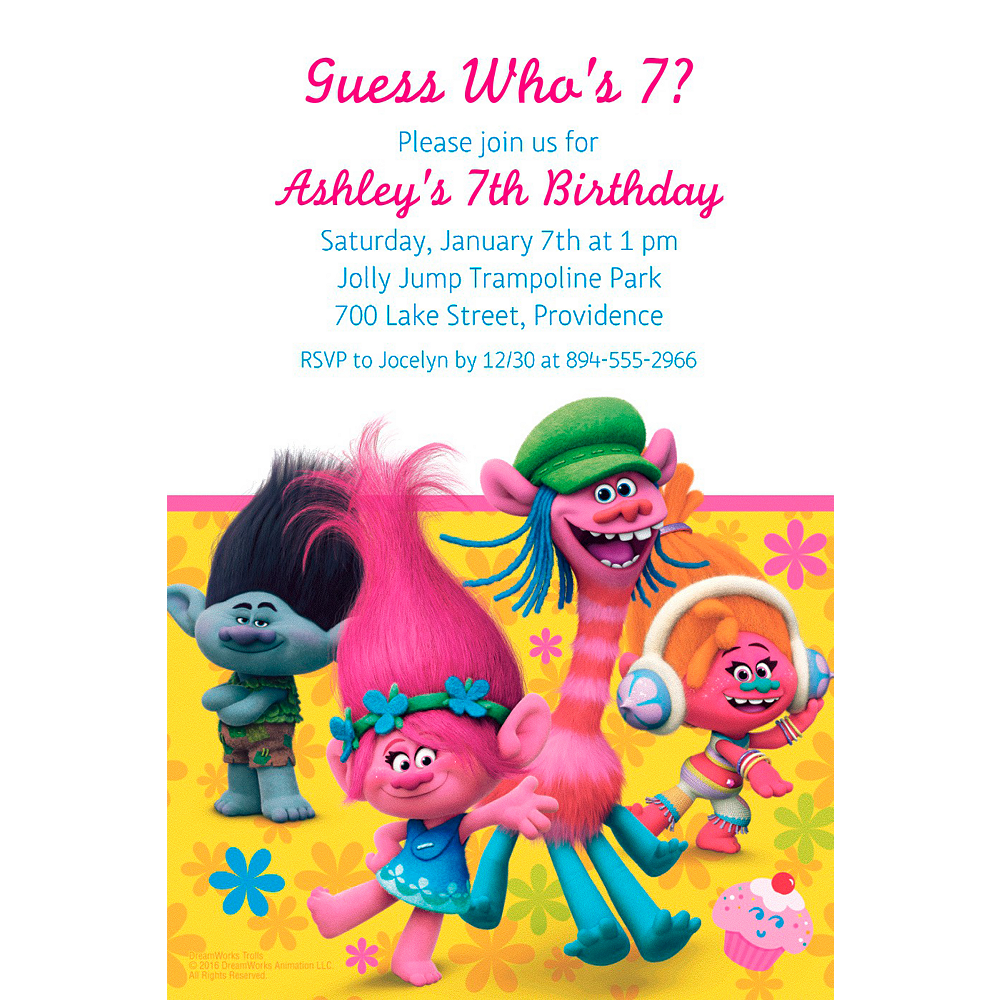 Custom Trolls Invitation Image 1