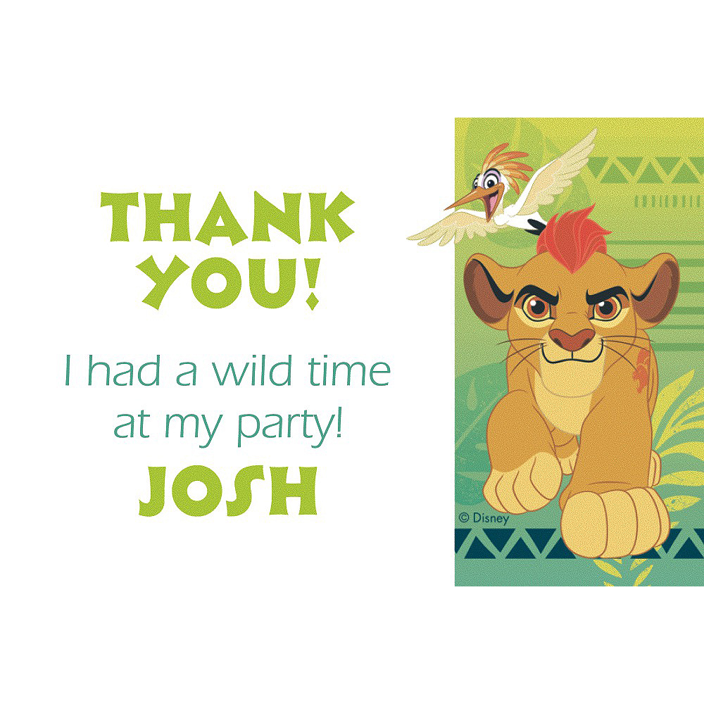 Nav Item for Custom Lion Guard Thank You Note  Image #1