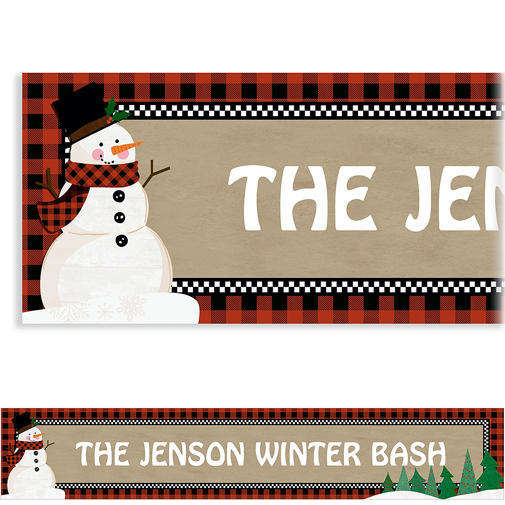 Custom Winter Wonder Snowman Banner Image #1