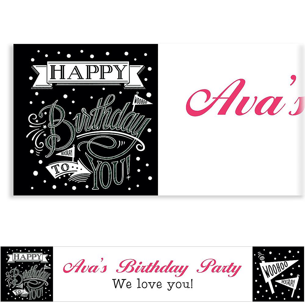 Custom Chalkboard Dots Birthday Banner Image #1
