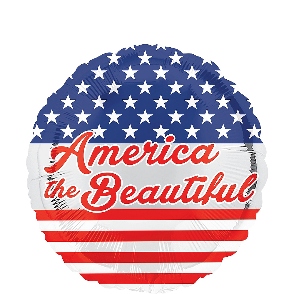Patriotic America the Beautiful Balloon, 17in Image #1