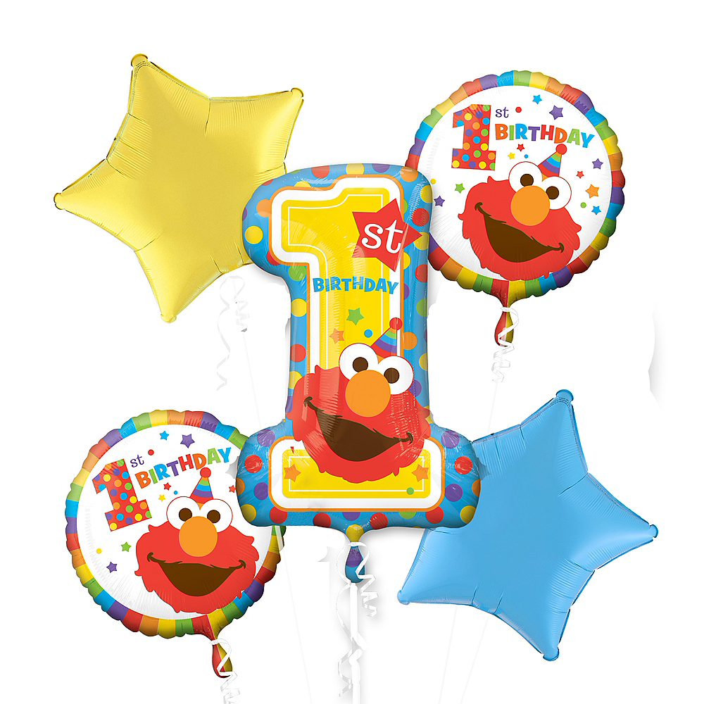 Sesame Street Balloon Bouquet 5pc Image #1