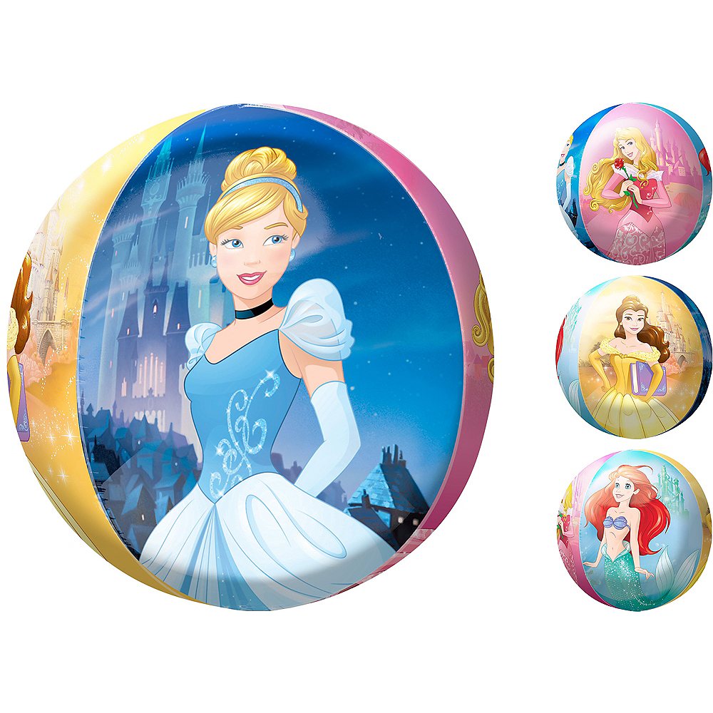Disney Princess Balloon - See Thru Orbz, 16in Image #1