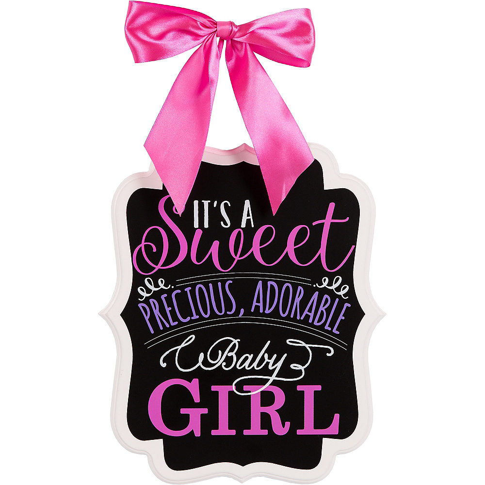 It's a Girl Baby Shower Chalkboard Sign Image #1