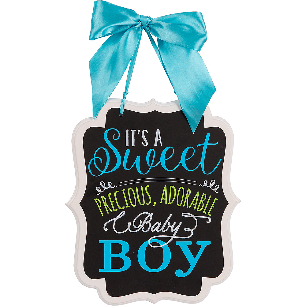 Nav Item for It's a Boy Baby Shower Chalkboard Sign Image #1
