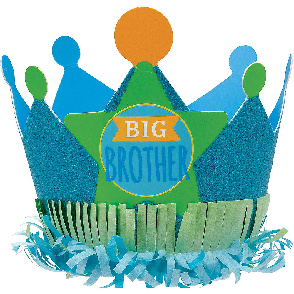 Mini Glitter Big Brother Crown Image #1