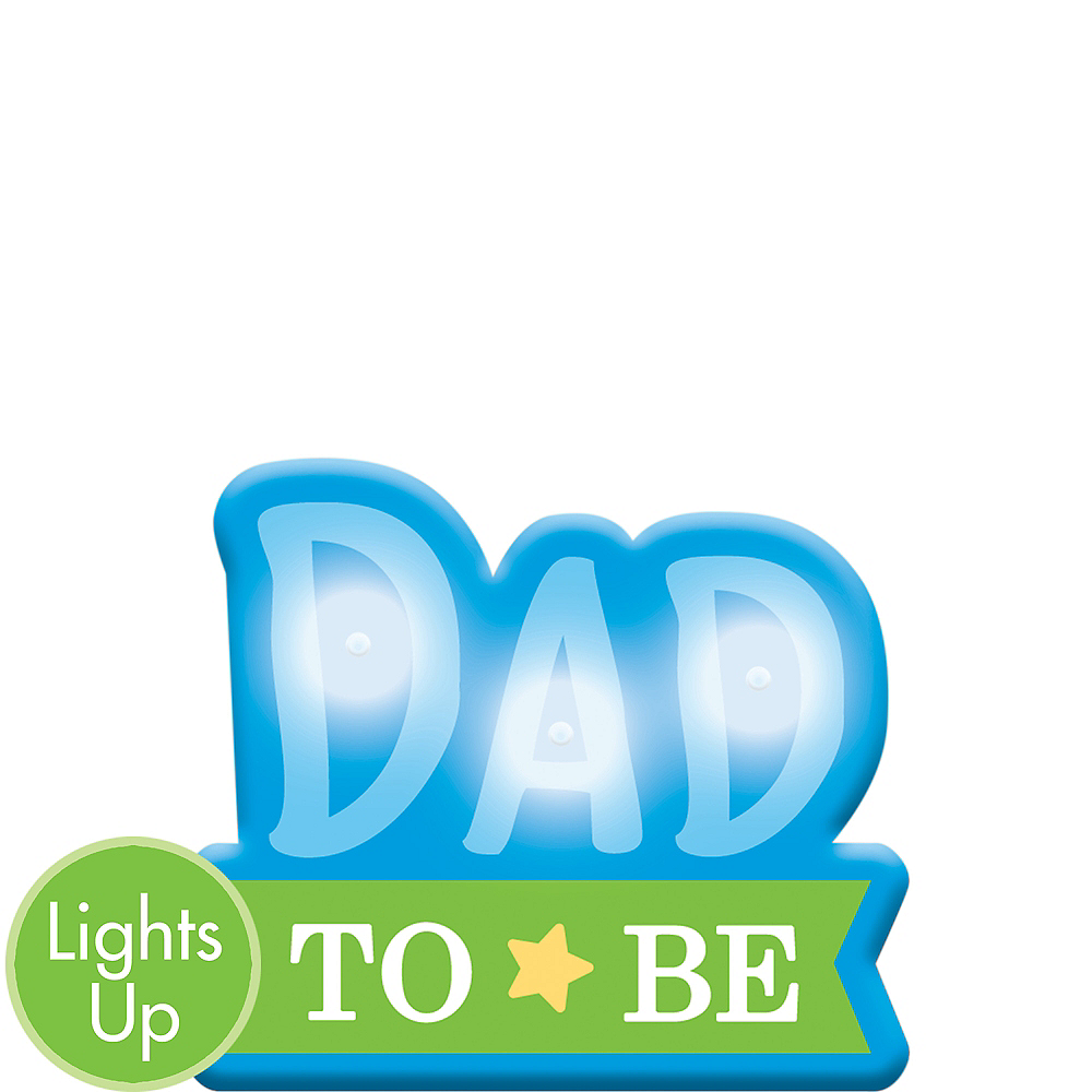 Light-Up Dad-to-Be Button Image #1