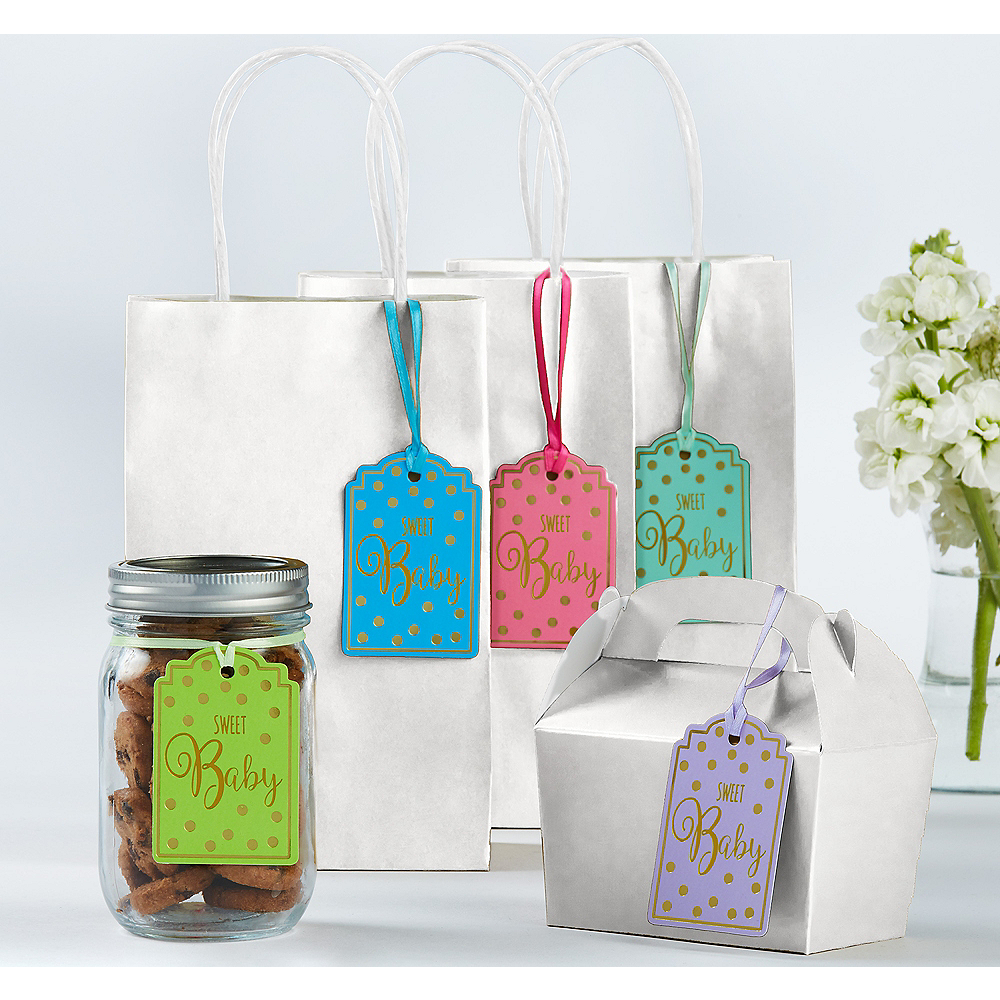 Gender Neutral Baby Shower Favor Tags 25ct