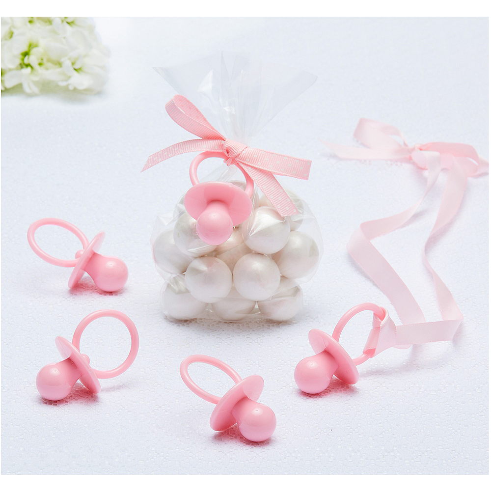 Pink Pacifier Baby Shower Favor Charms 8ct Image #1