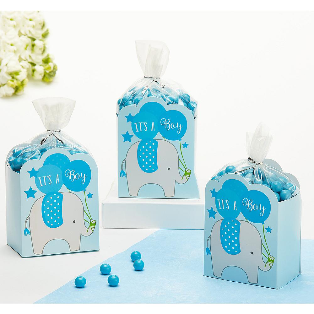 Blue It's a Boy Baby Shower Favor Box Kit 8ct Image #1