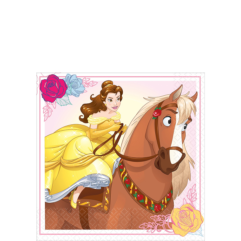 Beauty and the Beast Beverage Napkins 16ct Image #1