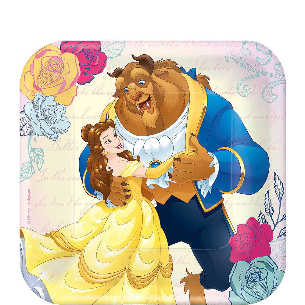 Beauty and the Beast Dessert Plates 8ct Image #1