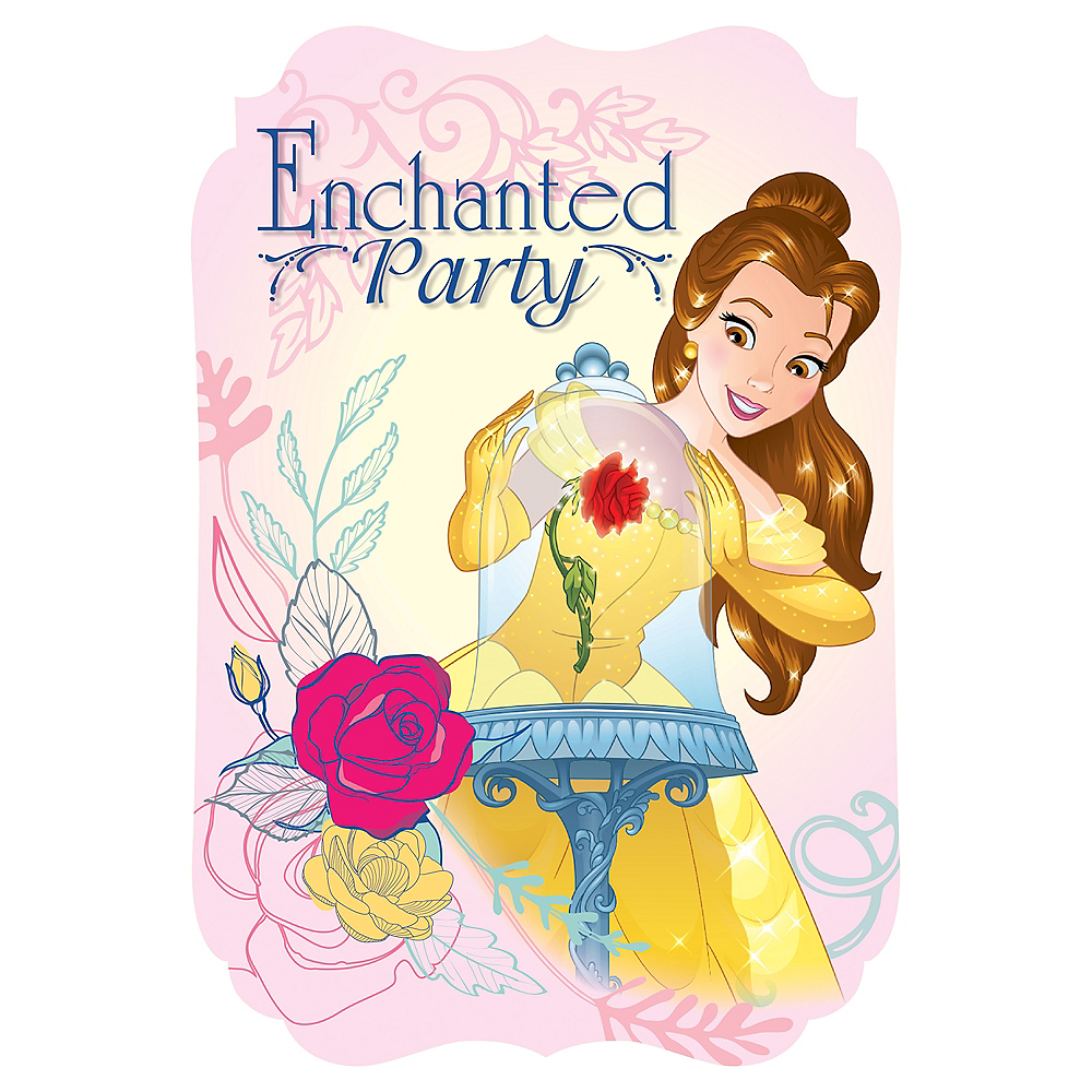 beauty and the beast invitations 8ct party city