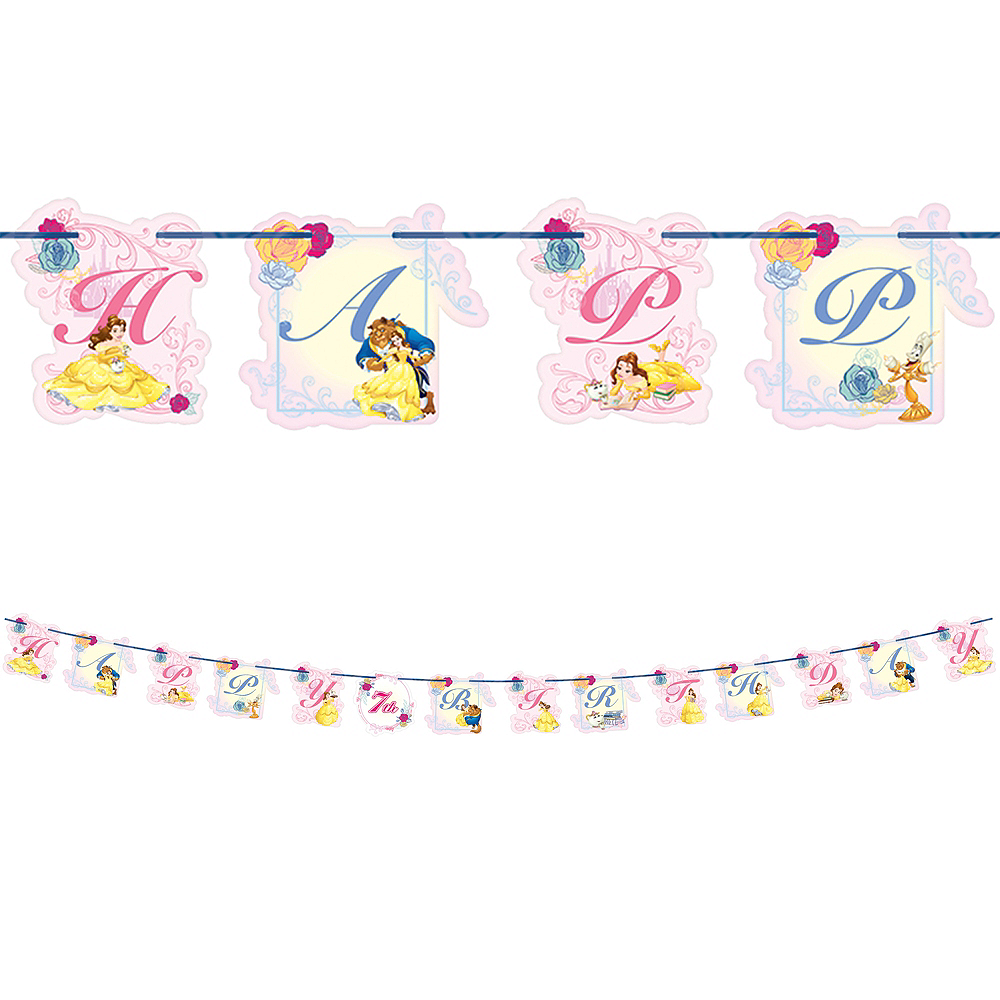 Beauty and the Beast Birthday Banner Kit Image #1