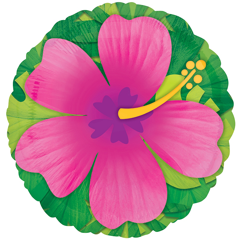 Nav Item for Giant Pink Hibiscus Balloon Image #1