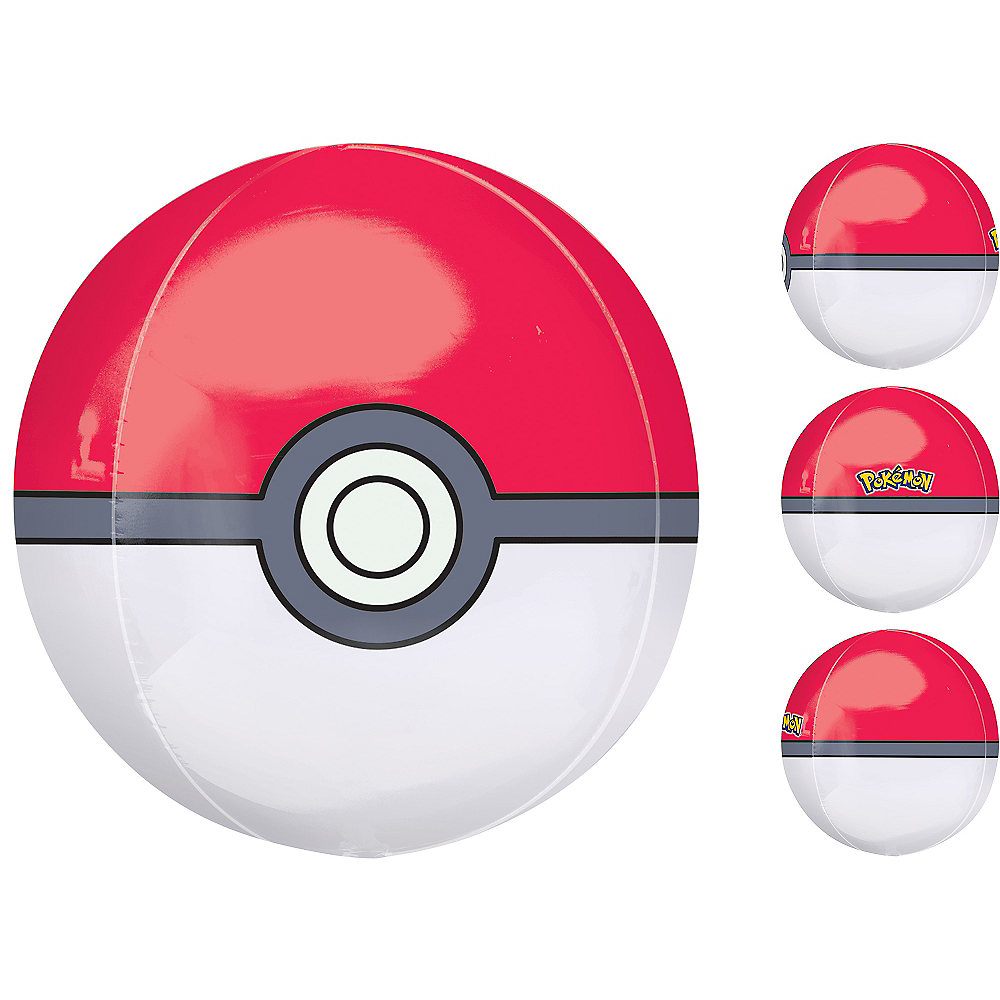 Pokeball Balloon - Orbz, 16in Image #1