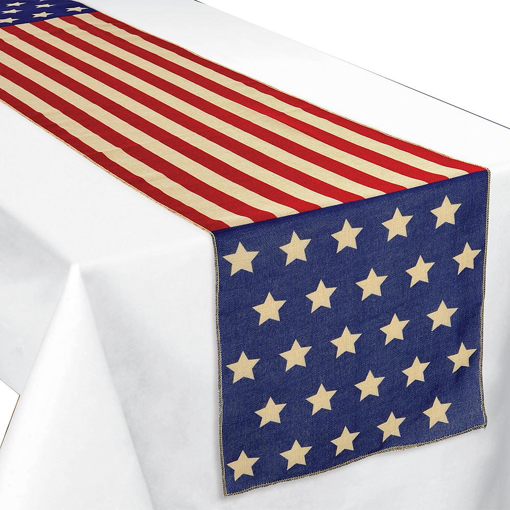 Patriotic American Flag Table Runner Image #1