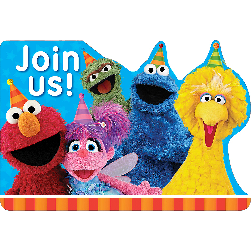 Sesame Street Invitations 8ct Image 1