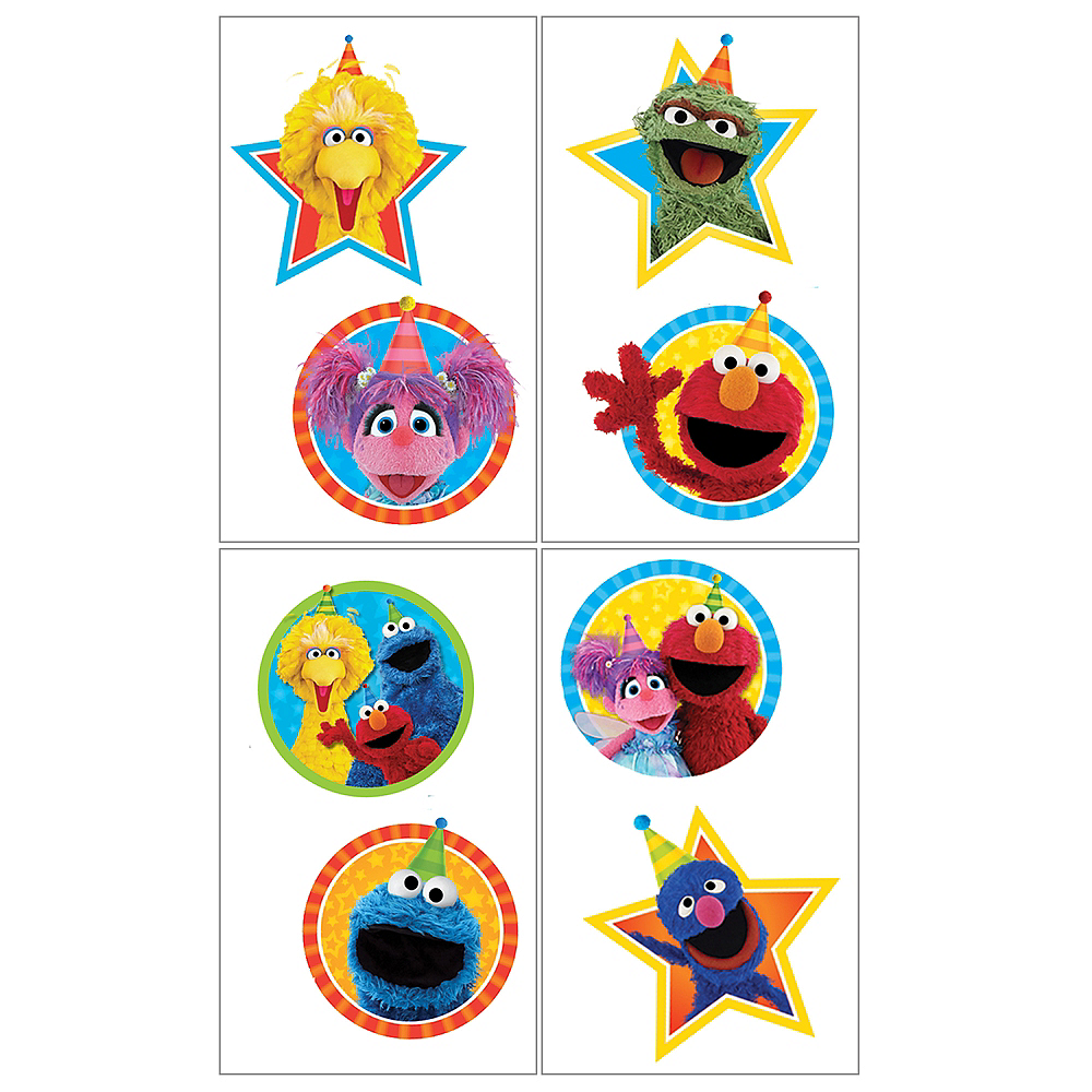 Sesame Street Tattoos 1 Sheet Image #1