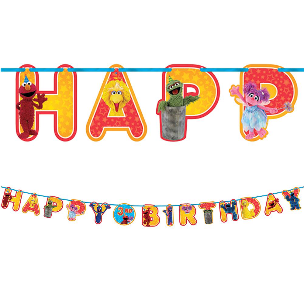 Sesame Street Birthday Banner Kit Image #1