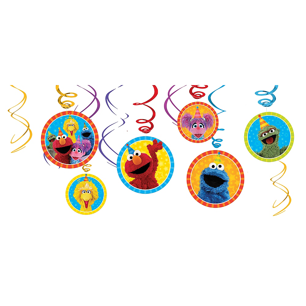 Nav Item for Sesame Street Swirl Decorations 12ct Image #1