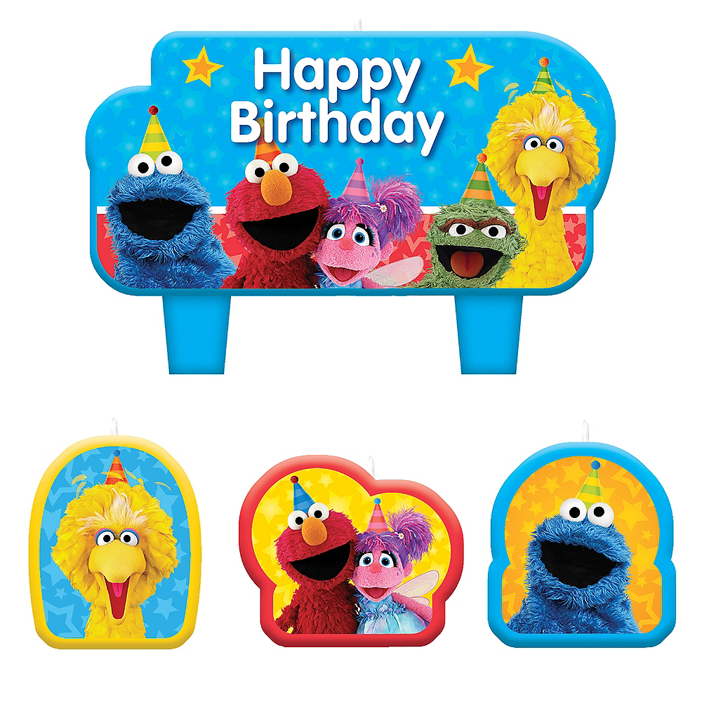 Sesame Street Birthday Candles 4ct Image 1