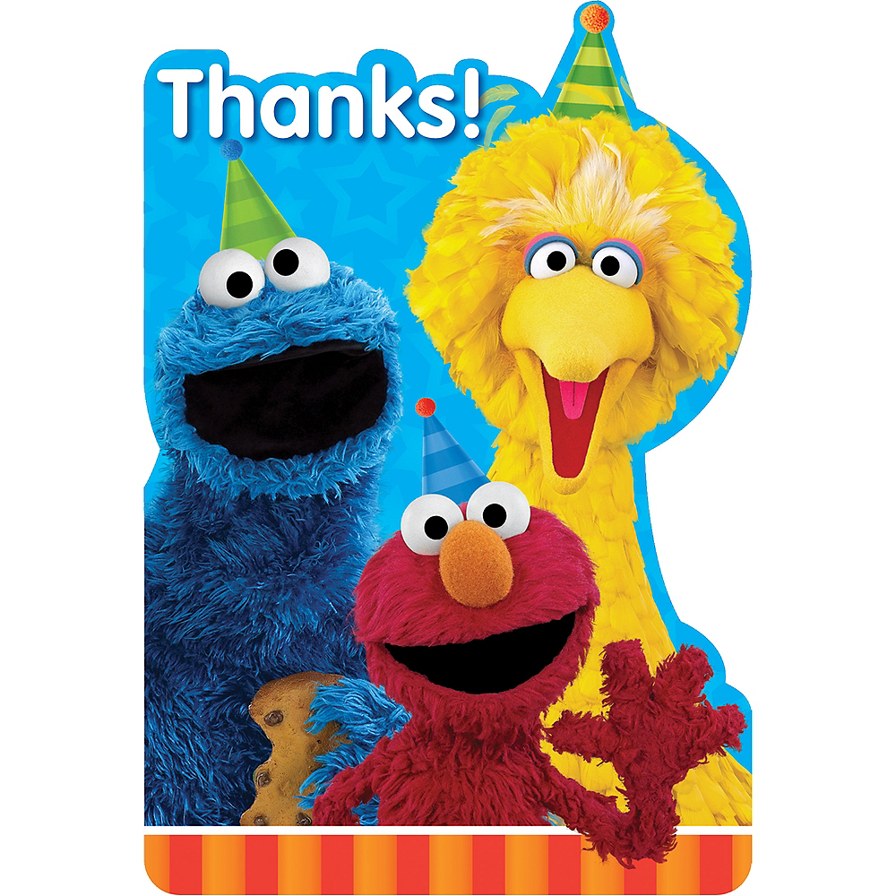 Sesame Street Thank You Notes 8ct Image 1
