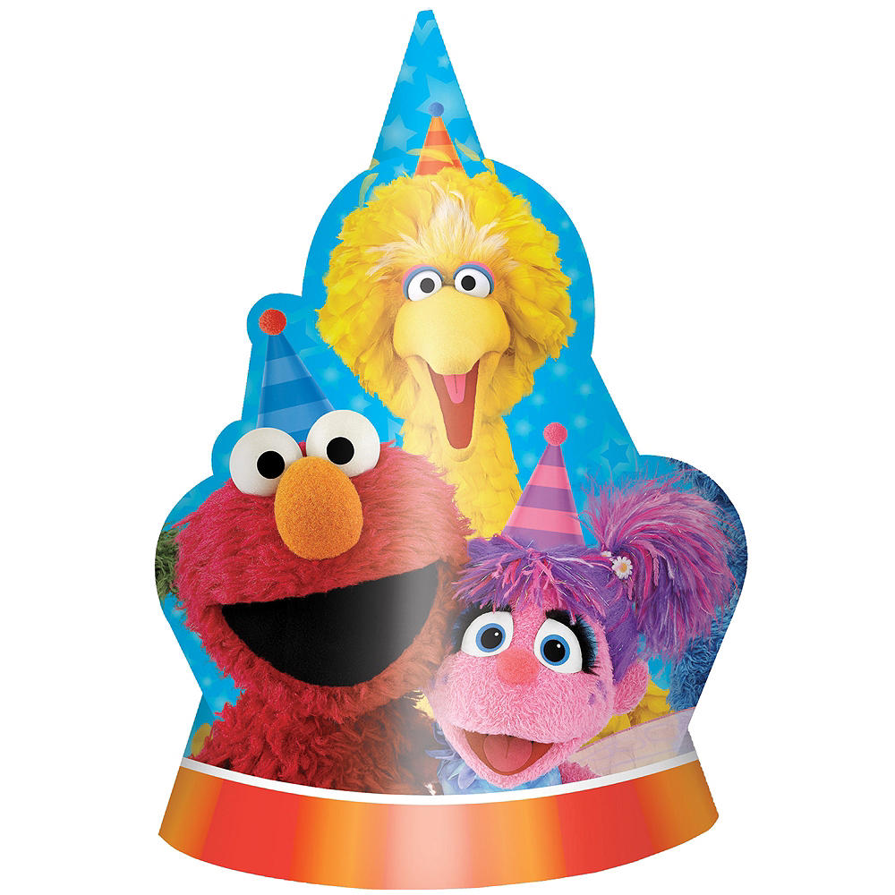 Sesame Street Party Hats 8ct Image 1