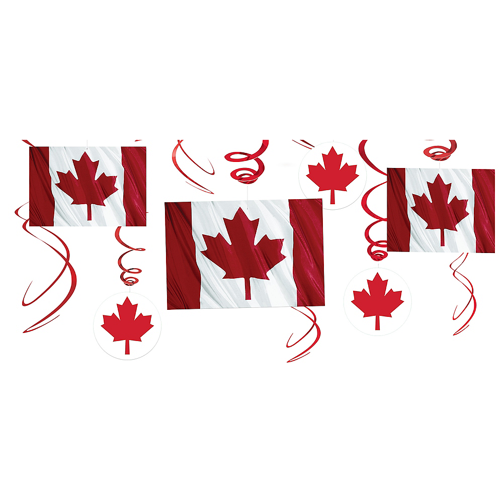 Canadian Flag Swirl Decorations 12ct Party City Canada