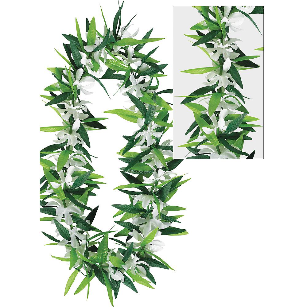 Flower & Leaf Maile Lei Image #1