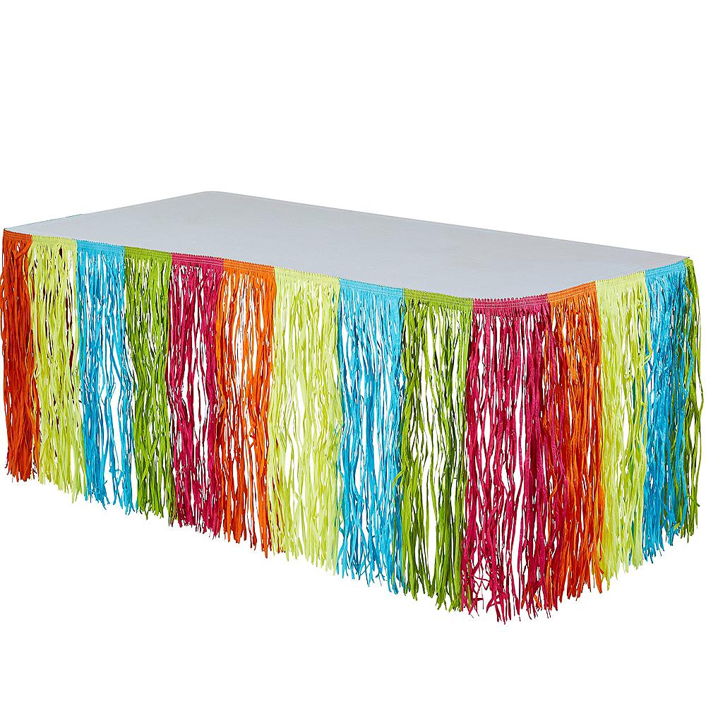 Neon Fringe Table Skirt Image #1