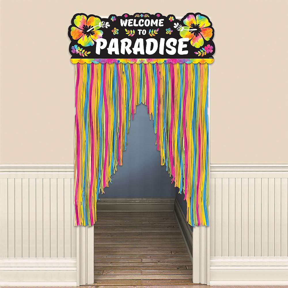 Neon Hibiscus Door Curtain Image #1