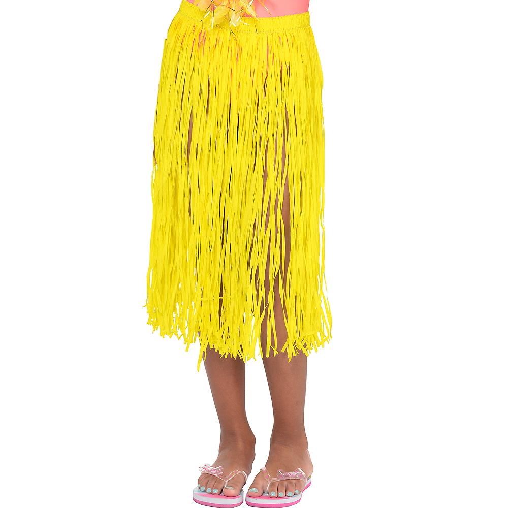 Child Long Yellow Hula Skirt Image #1