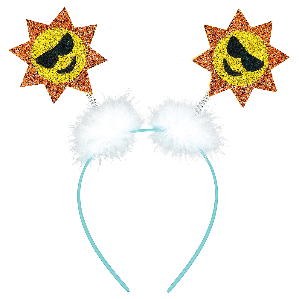 Glitter Sun Smiley Head Bopper Image #1