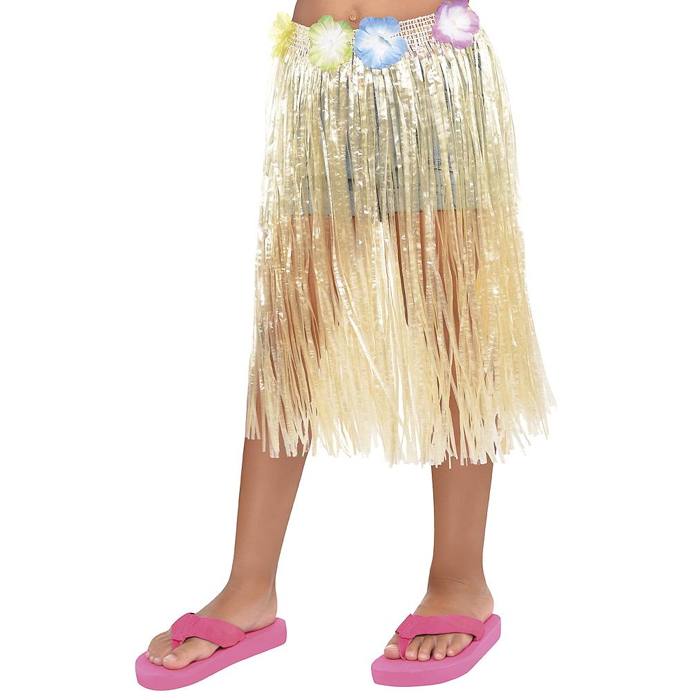 Child Long Hula Skirt Image #1