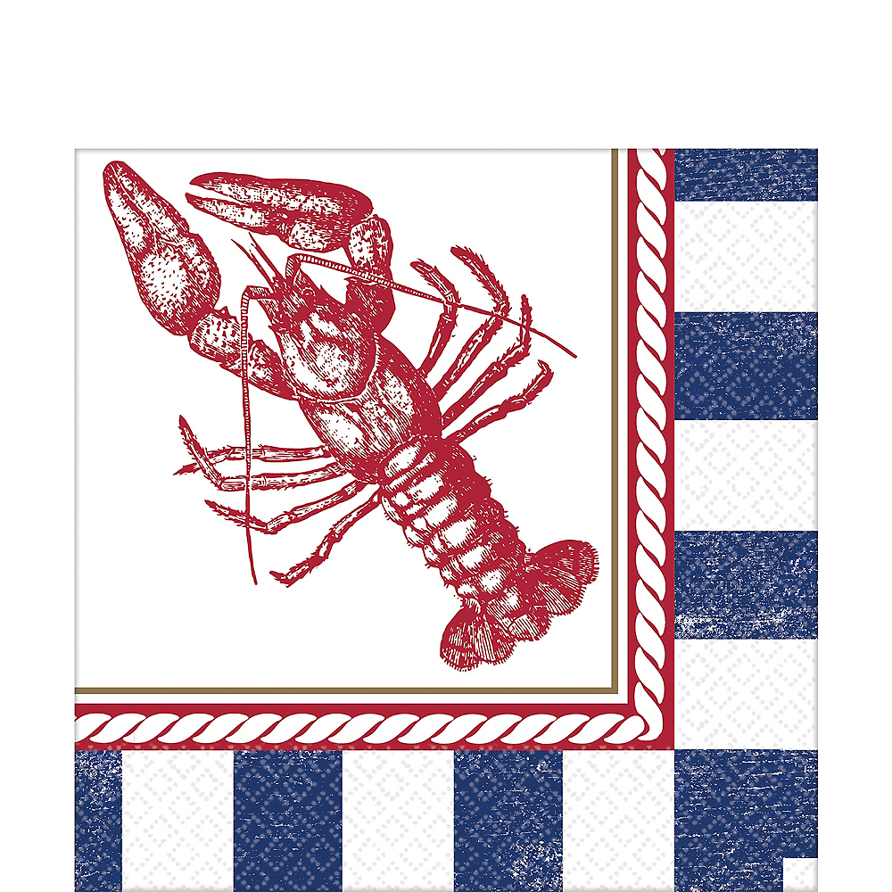Striped Nautical Lunch Napkins 16ct Image #1