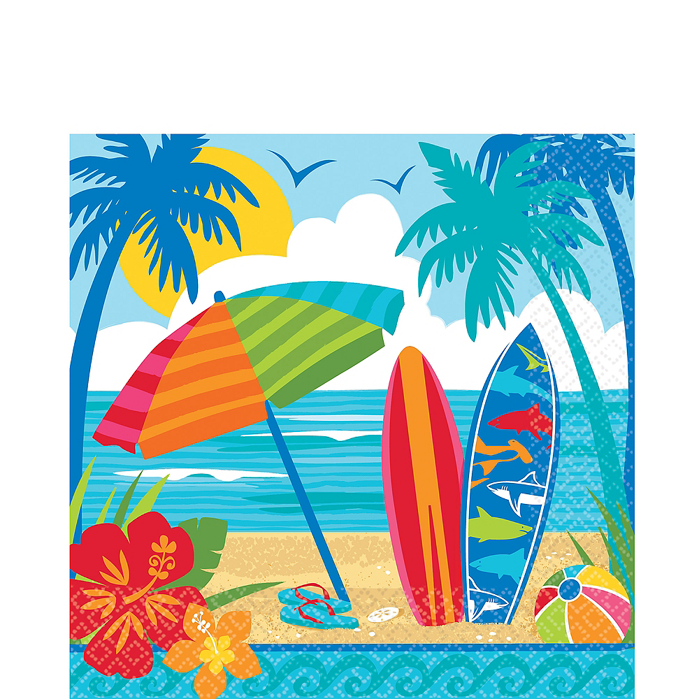 Sun & Surf Beach Lunch Napkins 36ct Image #1