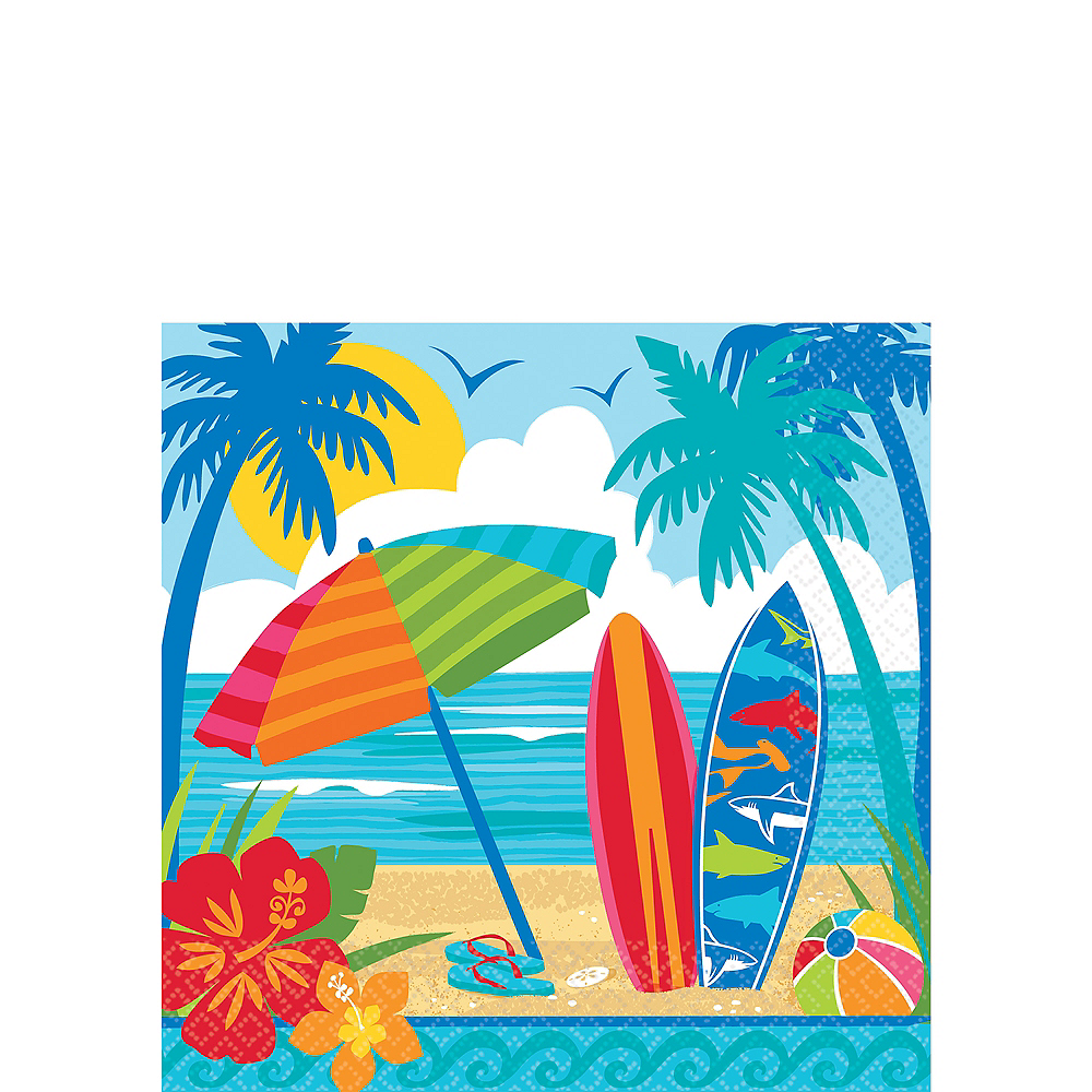 Sun & Surf Beach Beverage Napkins 36ct Image #1