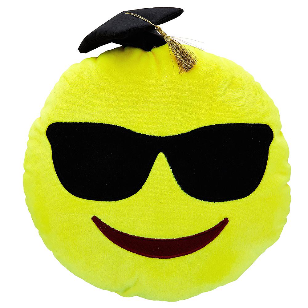 Sunglasses Smiley Graduation Pillow Plush Image #1
