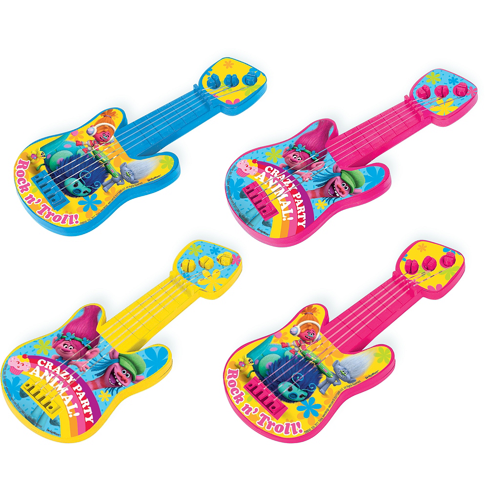 Trolls Mini Guitars 8ct Image #1