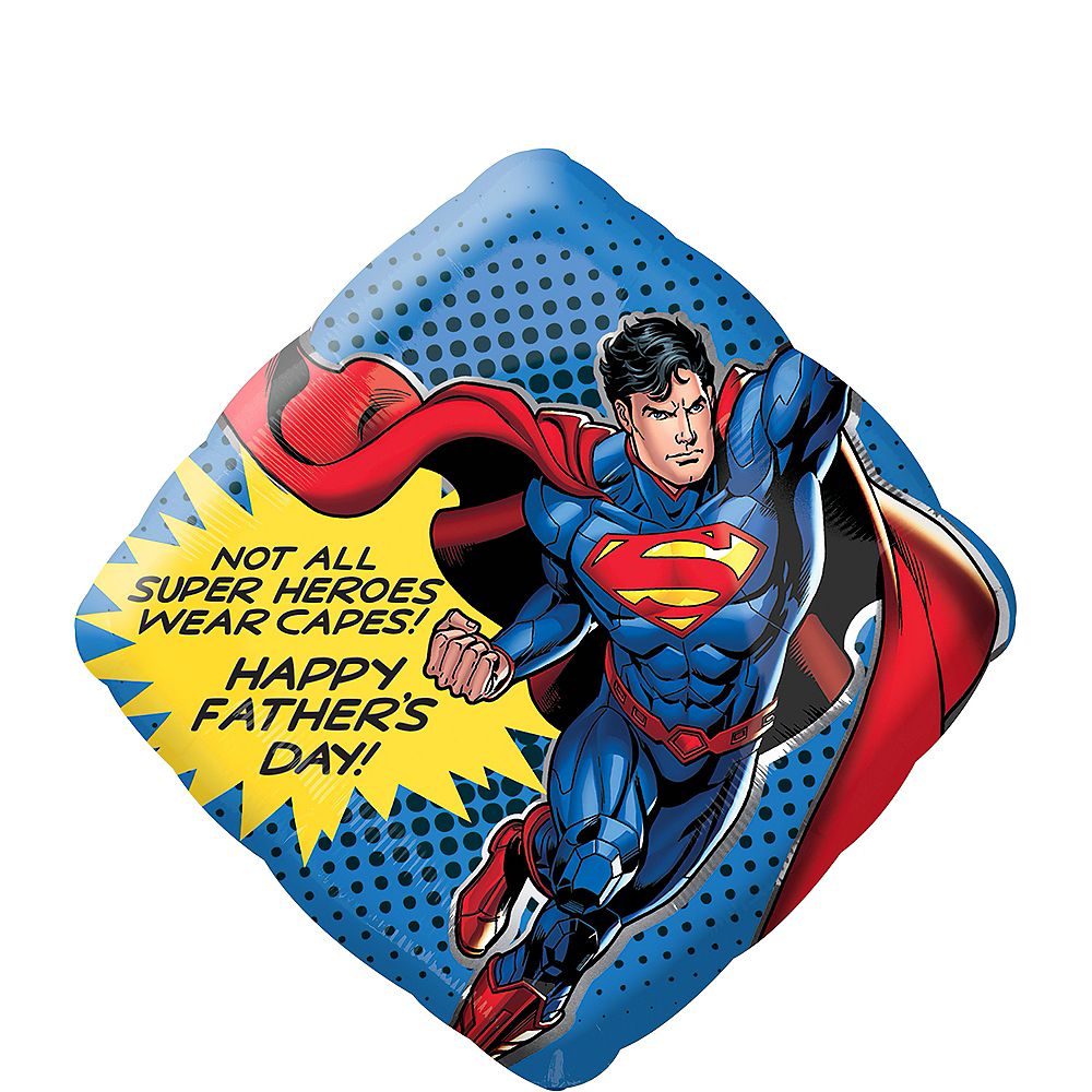 Giant Superman Father's Day Balloon Image #1