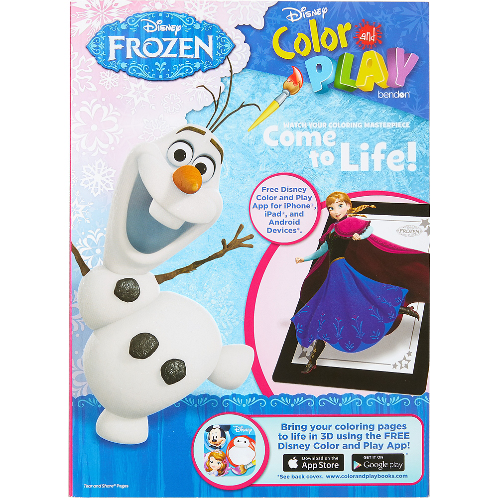 Frozen Color Play Book Image 1