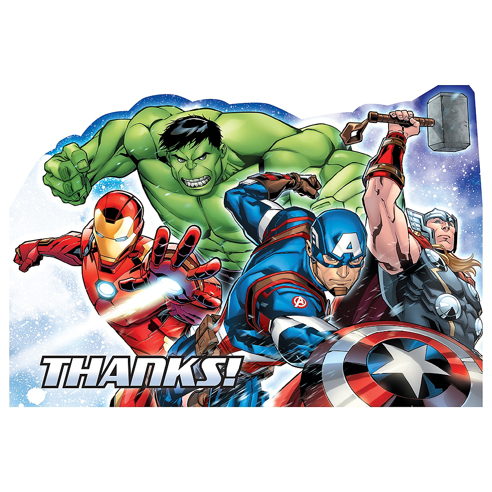 Avengers Thank You Notes 8ct Image #1