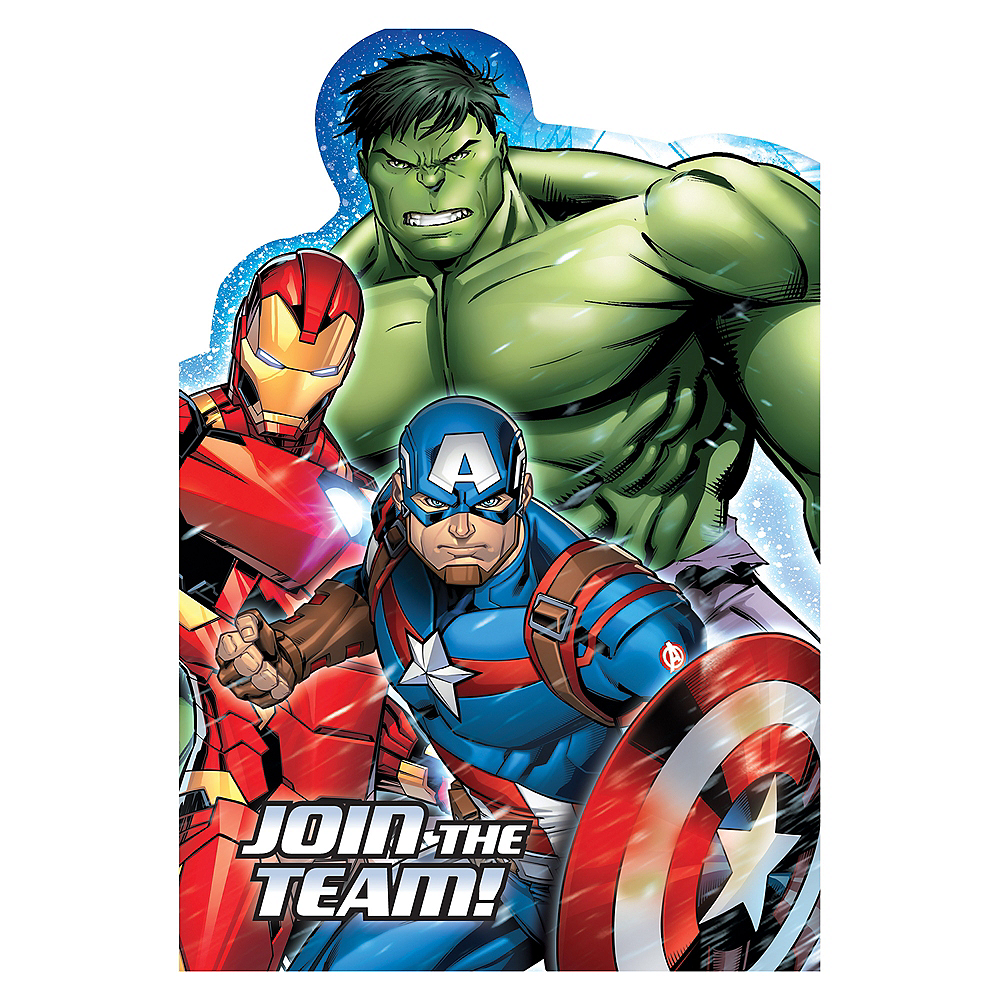 Avengers Stickers x 6 Birthday Party Favours Marvel Avengers Party Supplies