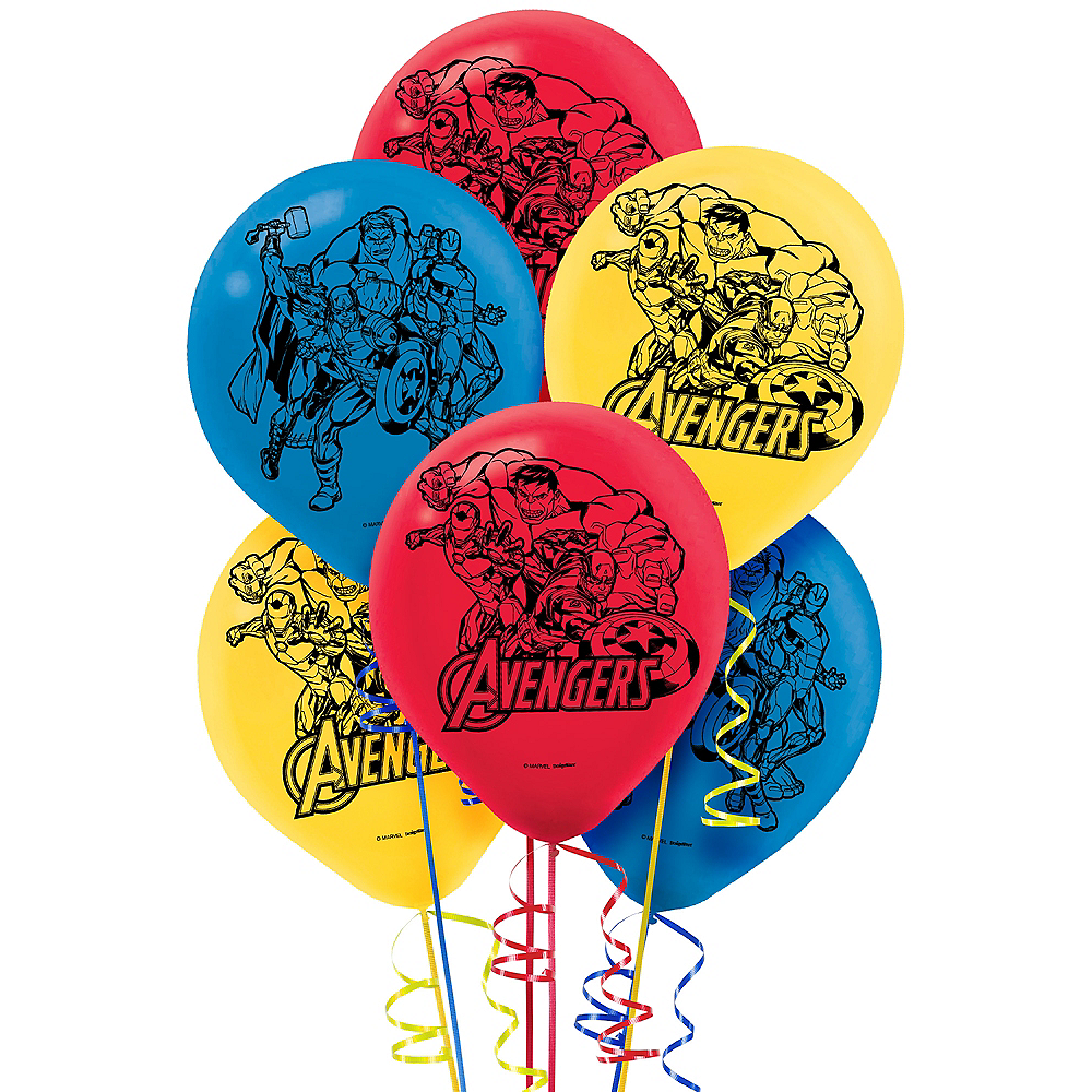 Avengers Balloons 6ct Image #1