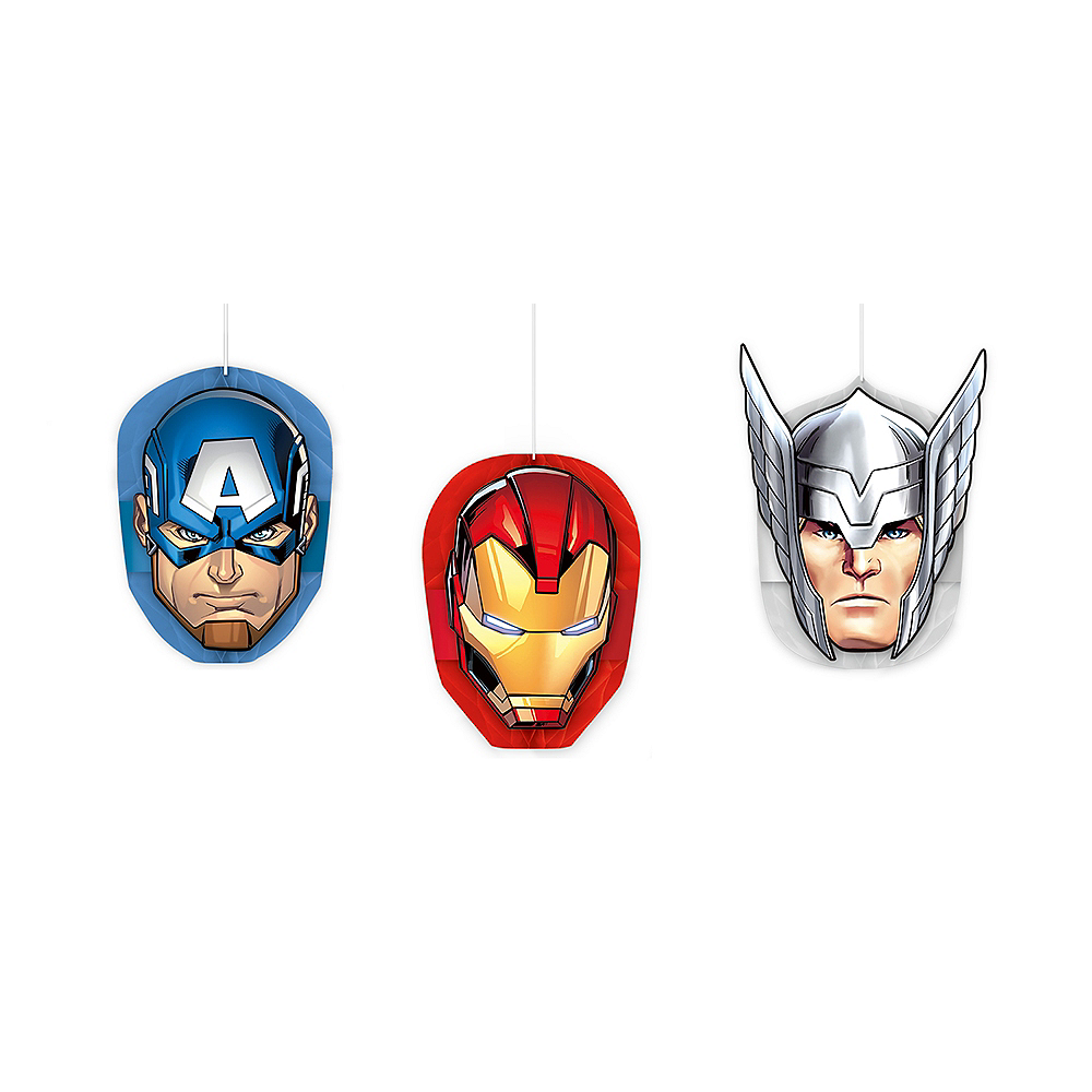 Avengers Honeycomb Balls 3ct Image #1