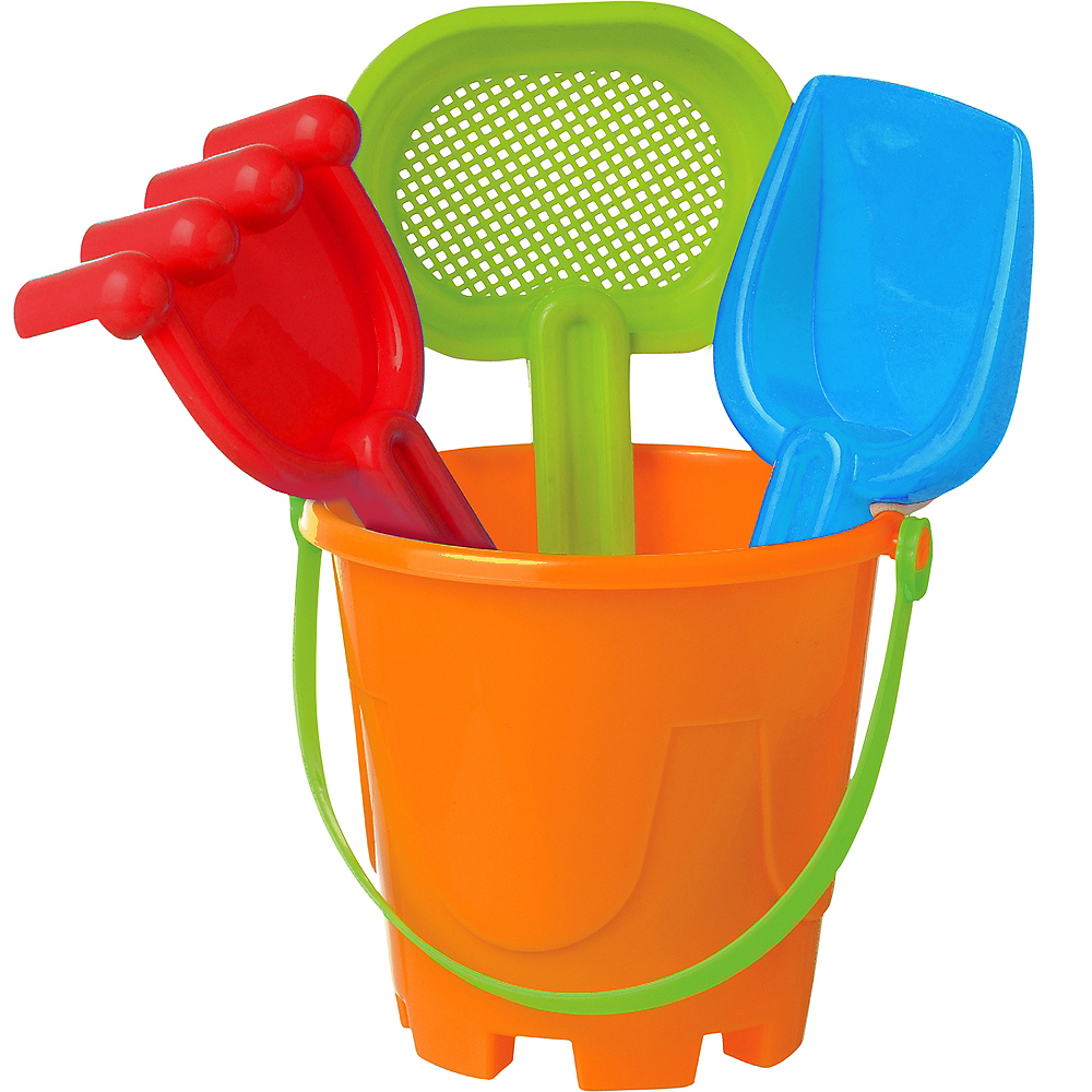 Nav Item for Sand Bucket Beach Toy Set 4pc Image #1