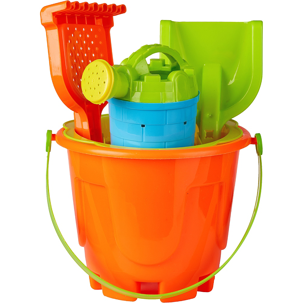 Nav Item for Sand Bucket Beach Toy Set 8pc Image #1